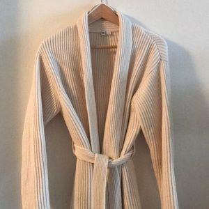 Uniqlo cream wrap sweater
